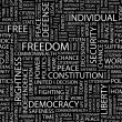 FREEDOM. Seamless vector pattern with word cloud. — ベクター素材ストック