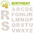 BIRTHDAY. Vector letter collection. — Stock Vector