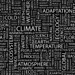 CLIMATE. Word collage on black background. — 图库矢量图片