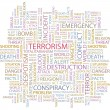 TERRORISM. Seamless vector pattern with word cloud. — Stock Vector