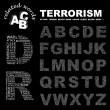 TERRORISM. Word collage on black background. — Stock Vector