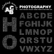PHOTOGRAPHY. Word collage on black background. — Stock Vector