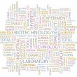 BIOTECHNOLOGY. Word collage on white background. — Stockvector