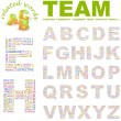 TEAM. Vector letter collection. Wordcloud illustration. — Stock Vector