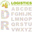 LOGISTICS. Vector letter collection. — Stock Vector