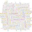 LEADER. Word collage on white background. Vector illustration. - Vektorgrafik