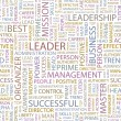 LEADER. Word collage on white background. Vector illustration. - Stock Vector