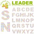 LEADER. Word collage on white background. Vector illustration. — Stock Vector