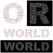 Royalty-Free Stock Vector Image: WORLD. Illustration with different association terms.