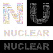 Stock Vector: NUCLEAR. Word collage.