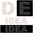 IDEA. Word collage. - Stock Vector