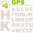 Stock Vector: GPS. Vector letter collection.