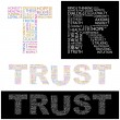 TRUST. Word collage. — Stock Vector