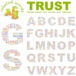 TRUST. Vector letter collection. — Stock Vector