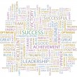 SUCCESS. Word collage. - Image vectorielle