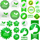 Set of natural labels. Vector set. — Stock Vector