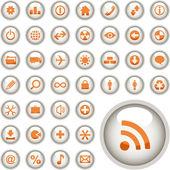 Vector colección de botones web. — Vector de stock