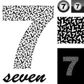 Seven. Background with numbers — Stock Vector