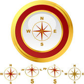 Vector compass. Graphic element set. — Stock Vector