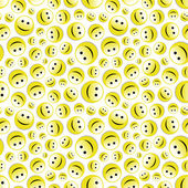 Seamless pattern with smile face. Vector illustration. — Stock Vector