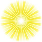 Sunburst abstract background — Stock Vector