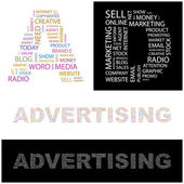 ADVERTISING. Vector collection — Stock Vector