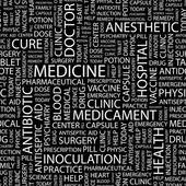 MEDICINE. Seamless vector background — Stock Vector