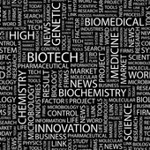 BIOTECH. Word collage vector — Stock Vector