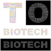 BIOTECH. Vector letter collection — Stock Vector