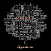 Aggression. vektor illustration. — Stockvektor
