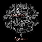 AGGRESSION. Vector illustration. — Stock Vector