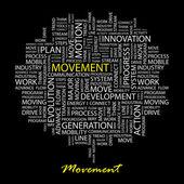 MOVEMENT. Vector illustration. — Stock Vector