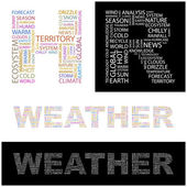 WEATHER. Word collage. Vector illustration. — Stock Vector