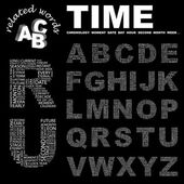 TIME. Word collage on black background. — Stock Vector