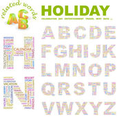 HOLIDAY. Vector letter collection. — Stock vektor