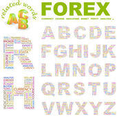 FOREX. Wordcloud vector illustration. — Stock Vector