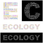 ECOLOGY. Vector letter collection. — Stock Vector