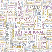 CHRISTMAS. Word collage on white background. — Stock Vector