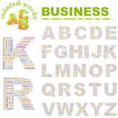 BUSINESS. Illustration with different association terms. — Stock vektor