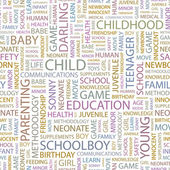 CHILD. Word collage on white background. — 图库矢量图片