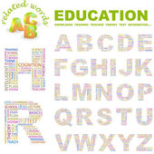 EDUCATION. Vector letter collection. — Stock Vector