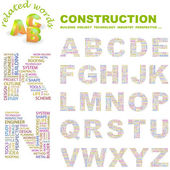 CONSTRUCTION. Vector letter collection. — Stock Vector