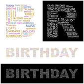 Födelsedag. vektor brev samling. — Stockvektor