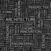 Architettura. vettore lettera insieme. illustrazione wordcloud. — Vettoriale Stock