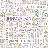 Innovation. wort-collage. vektor-illustration. — Stockvektor