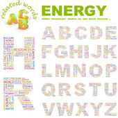ENERGY. Vector letter collection. — Stock Vector