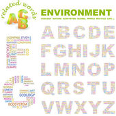 ENVIRONMENT. Vector letter collection. — Stock Vector