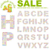 SALE. Word collection. Vector collage — Stock Vector