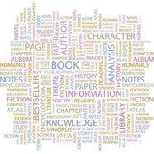 Kitap. resimde farklı ilişkilendirme terimleri. — Stok Vektör