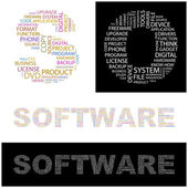 SOFTWARE. Word collage. — Stock Vector